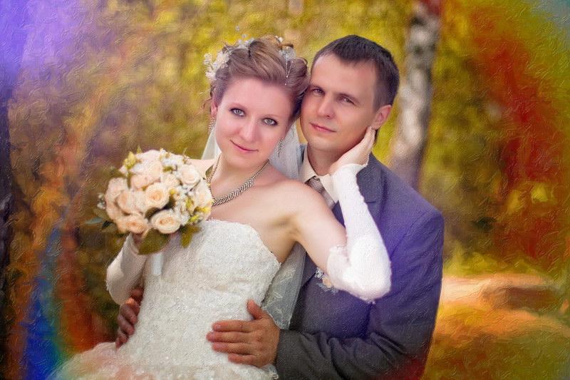 Свадебная фотография МАСЛОМ